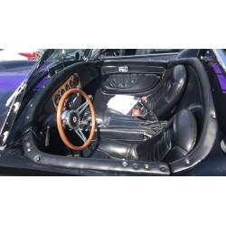 intérieur  noir shelby (by kellison)  cobra réplique V8 Ford  7,5 litres